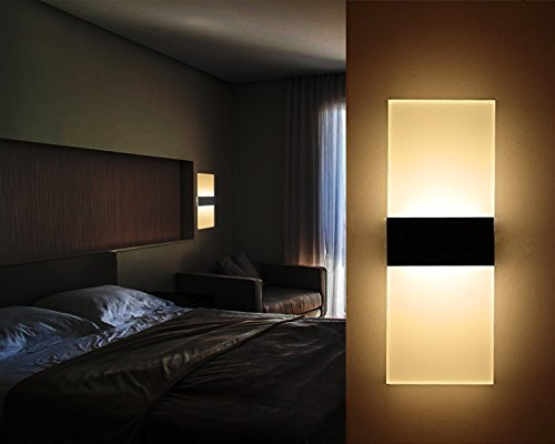 6w led wandleuchte acryl wandlampe f r wohnzimmer. Black Bedroom Furniture Sets. Home Design Ideas