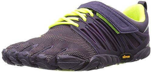 Vibram FiveFingers Damen V-Train Fitnessschuhe Violett Nightshade/Safety Yellow, 39 EU