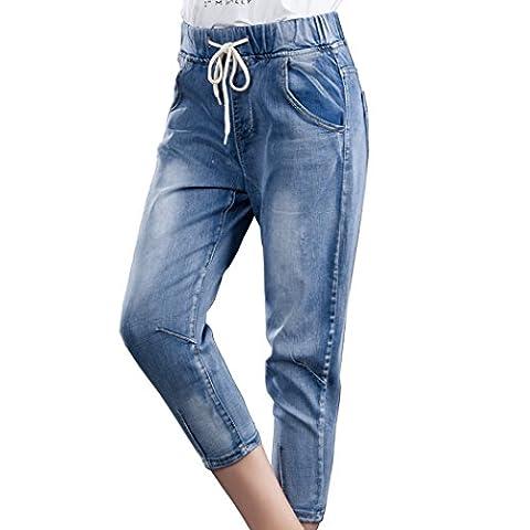 Bestor Mode féminine Plus taille Denim Short Stretch Indigo en