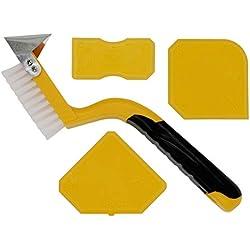 Thorani | Outil Lisseur Joint | Kit Complet: Brosse pour les Joints avec Racloir et Lisseurs | Idéal pour Salle de Bain et Cuisine | Joints Silicone Acrylique | Nettoyage Facile