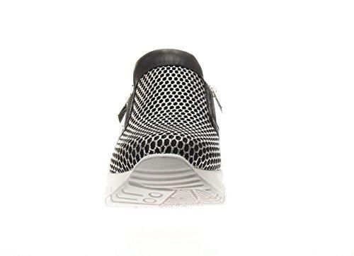 IGI&CO scarpe donna sneakers basse senza lacci 77762/00 NERO/ARGENTO Nero-argento