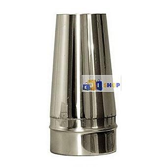 CHEMINEE PAROI SIMPLE TUYAU TUBE INOXIDABLE AISI 316 - dn 80 tronco conico