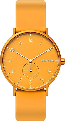 Skagen Unisex Adult Analogue Quartz Watch with Silicone Strap SKW6510
