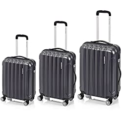 Juego de 3 maletas Neon Matt Gladiator de 34 - 65 - 100 litros (Gris)