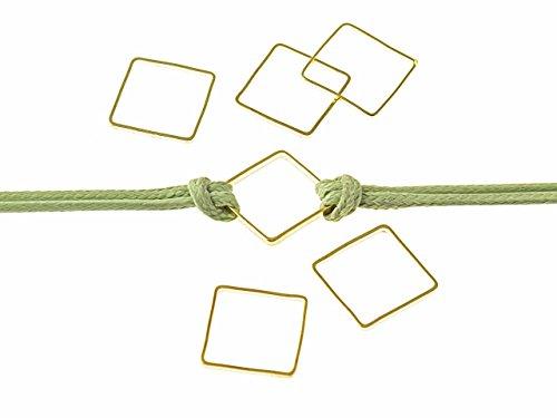 """20 Verbinder """"Square"""" aus Messing in goldfarben von Vintageparts, DIY-Schmuck"""