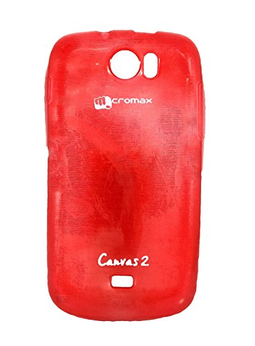 iCandy Soft TPU Shiny Back Cover For Micromax Canvas 2 A110 - Red  available at amazon for Rs.99