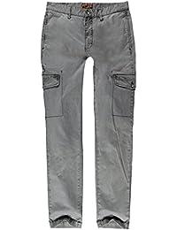 emilio adani Herren Cargohose im casual Style, 21897, Grau