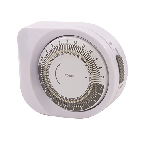 400A Series Indoor General Purpose Mechanical Multiple ON/OFF Lighting Timer, Polarized Plug, 15 Amp Current, 15 Minutes by