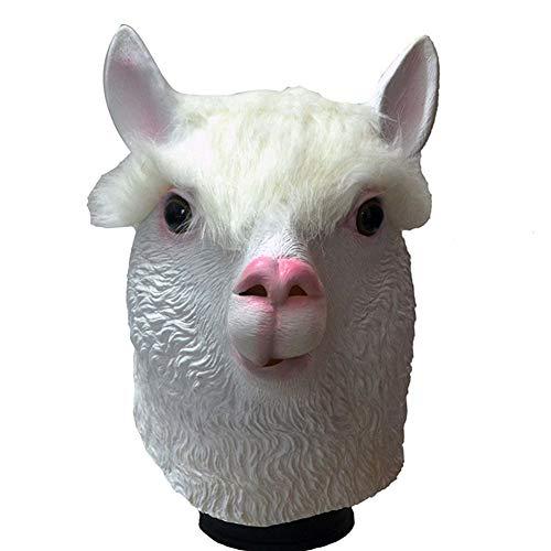 Kostüm Kopf Schafe - Yuahwyehe Schaf Halloween Kostüm Party Vollkopf Latex Schaf Kopf Maske, Latex Tierkopf Maske Neuheit Kostüm Gummi Masken Grau