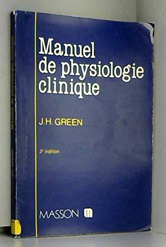 Manuel de physiologie clinique