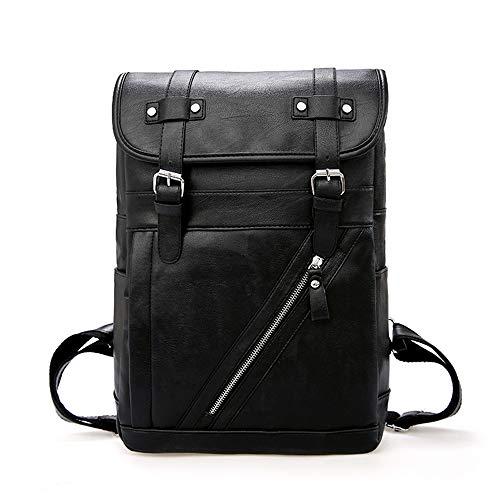 Tnxan Casual Daypacks Vintage Designer Men Backpack Waterproof Pu Leather Travel Bag Man Large Capacity Teenager Male School Mochila Laptop Backpacks (Little Pony-clearance My)
