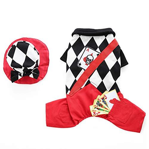 Everpert Hund Costumes Outfit Niedlichen Hund Kostüm Weihnachten Welpen Magier Anzug Cap Cosplay Kleidung für kleine und mittlere Hunde ()