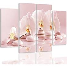 Tableau impression sur toile 4 parties fleurs for Tableau en 3 parties