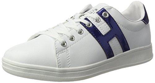 HIS - 16mcb002, Scarpe da ginnastica Donna Weiß (white/blue)