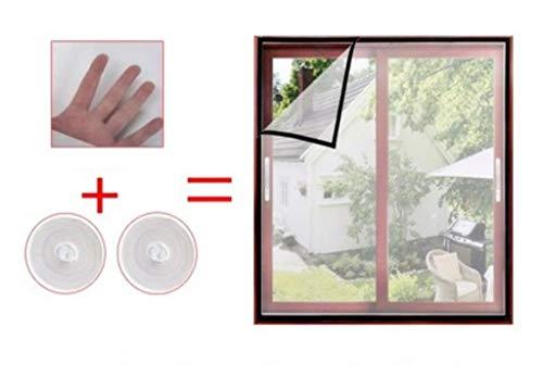 JLDN Netzgittervorhang für Fenstergitter, Strapazierfähig Heavy Duty Mesh Automatisches Schließen, passend für mehrere Fenster,Gray_90x150CM