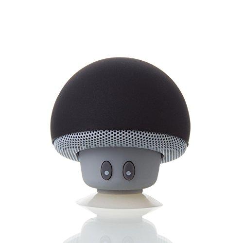 Liamoo Audio Lifestyle Bluetooth 4.1+ Lautsprecher Pilz mit kristallklarem Klang 3,5W tragbar mit Saugnapf in Schwarz