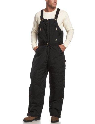 Carhartt Men's Yukon Arctic Quilt Lined Zip to Waist Biberalls,Black,40 x 28 -