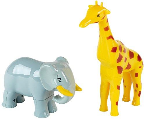 Theo Klein- Funny Puzzle con 2 Animali Magnetici, età 1+, con Giraffa E Elefante, Giocattoli, Multicolore, 76