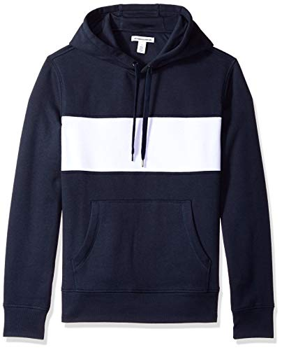 Amazon Essentials Hooded Fleece Chest Stripe Sweatshirt Navy/White US XXL (EU XXXL-4XL)