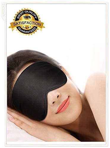 Ultra-weiches hautfreundliches Naturseidengewebe und Schlafaugenmaske aus naturbelassener Baumwolle, Maske. Mit verstellbaren Schultergurten und Ohrstöpseln. (Kalten Kopf Maske)
