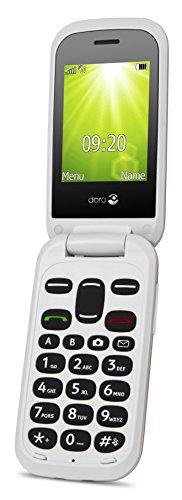 Doro 2404 Téléphone portable débloqué 2G (Ecran : 2,4 pouces - 24 Mo - Double Micro SIM - Système d'exploitation Doro) Rouge/blanc