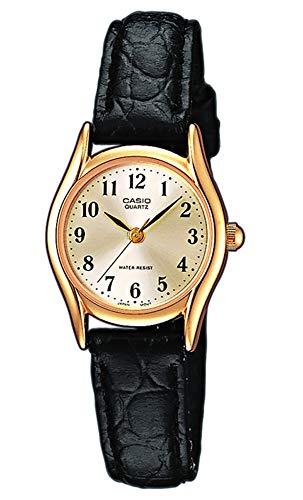 Casio Damen Analog Quarz mit Leder Armbanduhr LTP 1154PQ 7B2EF (Damen Collection Leder)