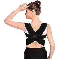Correttore per postura Doact, per la parte alta della schiena. Tutore per clavicola, aiuta a tenere le spalle diritte e in fuori. Migliora una postura scorretta. Unisex (TAGLIA M da 71 a 89 cm)