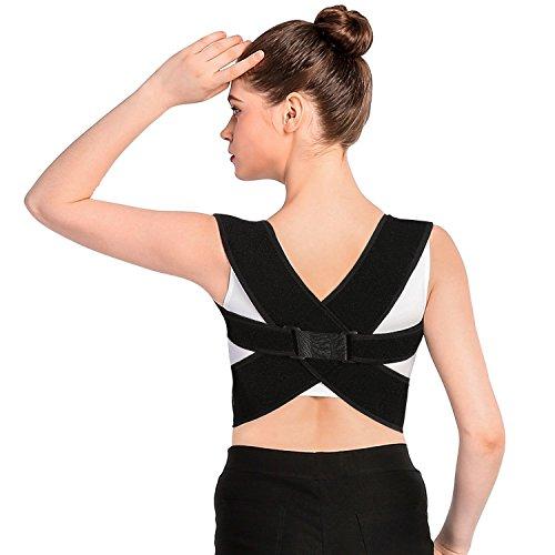 Doact Geradehalter zur Haltungskorrektur, Einstellbare Haltungskorrektur Geradehalter Schulter Rücken für Männer und Frauen (M(28''-35'')) Test