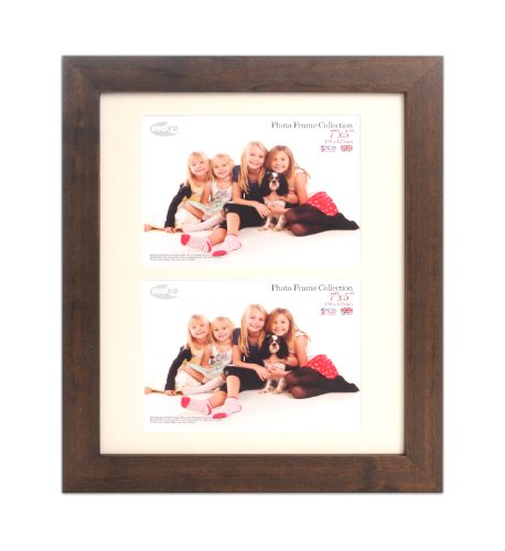 Inov8 Kayla Dark Oak - Cornice portafoto in legno di rovere scuro, 30,5x25,4cm, per 2 foto da 17,8x12,7cm, 4 pezzi