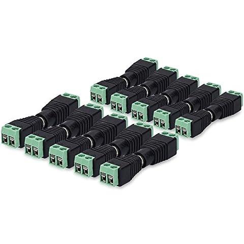 kwmobile 10x prise DC et 10x connecteur DC adaptateur / set de 10 câble électrique connection de raccordement 12V avec 5,5 x 2,1 mm