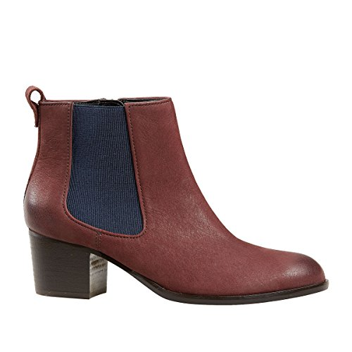 Van Dal Shoes Womens Cato Boots in Bordeaux / contrast gusset