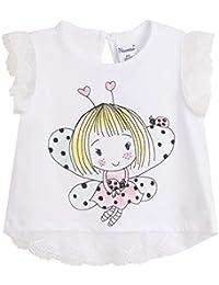NEWNESS Camiseta Mariposa Bebe Niña 6-24 Meses