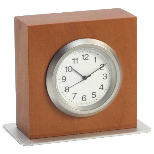 Tischuhr | Schreibtischuhr 'TABLO' | Miniatur-Uhr aus Birnbaumholz | H = 5 cm | Ofform Design | Nr.15101