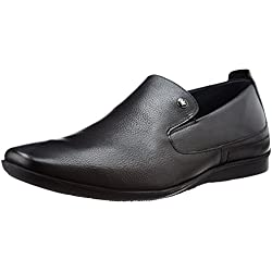 Louis Philippe Men's Black Leather Formal Shoes