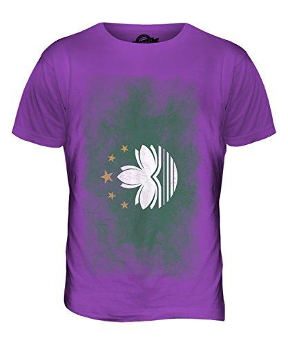 CandyMix Macau Verblichen Flagge Herren T Shirt Violett