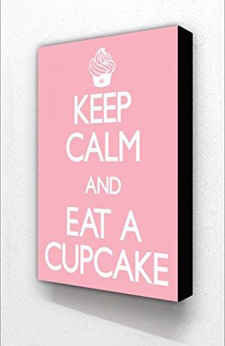 Keep Calm & eat A Cupcake Bloc Support vertical