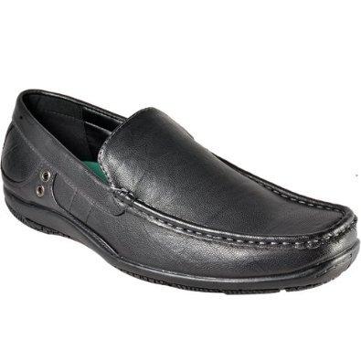 BRICKERS MENS FAUX LEATHER FORMAL DRESS OFFICE CASUAL SHOES SLIP ON SZ 6-12 (7, Black)
