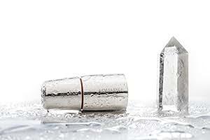Wasserwirbler Aquadea ToneOne Crystal Trinkwasser-Wirbler Silber Bergkristall. Hochfrequenz-Verwirbelung in Tradition mit Schauberger und Hacheney. Geometrien der Wirbelkammer nach dem Goldenen Schnitt u. Blume des Lebens - Torus