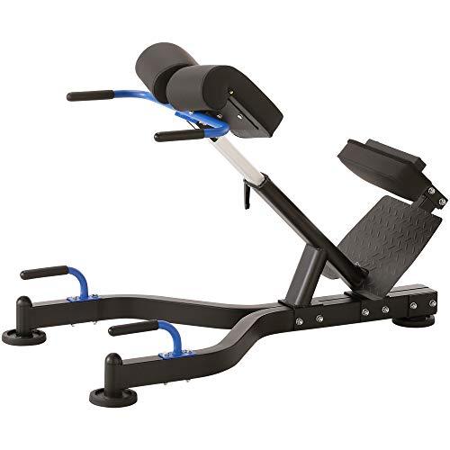 Maxxus Hyperextension Rückentrainer PRO Standfester Rückenstrecker Für Gesundes Rückentraining Und Stärkung Ihrer Muskulatur - An Körpergröße Einstellbar - Integrierte Liegestützgriffe