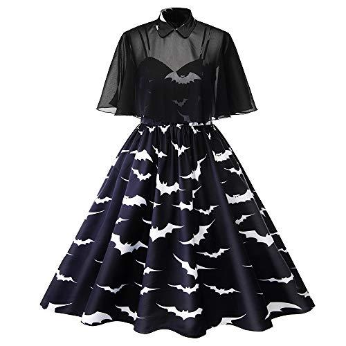 hwarz Mesh Cape Kleider Frauen Zwei Stück Plus Größe Büro Dame Elegante Plissee Stilvolle Dünne Prom Abend Goth Schaukel Dress ()