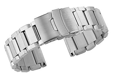 Noble Silver Watch Cinturones Reemplazo de metal de la banda Heavy Type 316L Acero inoxidable cepillado acabado