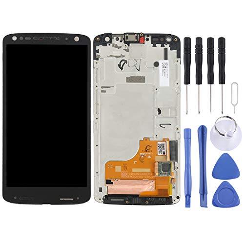 YANSHANG Parti di Ricambio per Smartphone LCD Screen e Digitizer Assembly Completo con Telaio per Motorola Moto X Force XT1581 / Droid Turbo 2 XT1585 (Nero) Parti di Riparazione (Colore : Black)