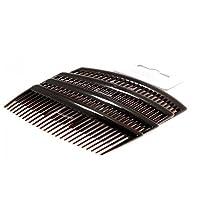 "Set of 4 Tort Plain Hair Combs Slides 9cm (3.5"") by Pritties Accessories"