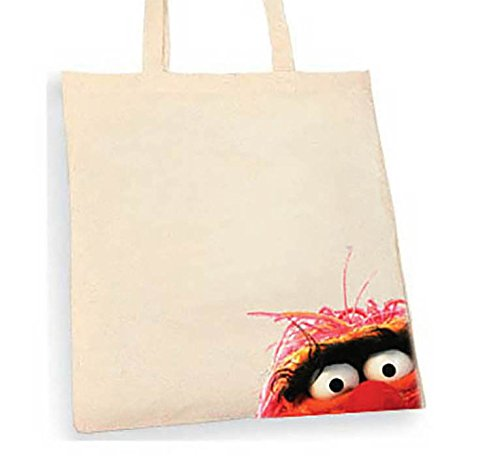 The Muppets Animal Tote bag. Beige cotton bag, Cotton Tote Bag, Can be used as a bag for life shopping bag, handbag, fashion bag, school bag, beach bag, shoulder bag. - handmade-bags