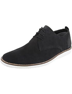 Budapester Stil Leder Herrenschuhe Oxford Schnürer Schnürsenkel Ital-Design Business-Schuhe