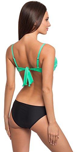 Merry Style Coordinati da Bikini per Donna Modello: N3 34/AG Verde/Nero