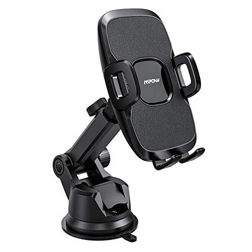 Mpow Handyhalterung Auto,2 in 1 Universal autohandyhalter,Armaturenbrett/Windschutzscheibe KFZ Smartphone Halterung,2 Saugstufen, abwaschbare Gelauflage, handyhalter fürs Auto für alle Handys