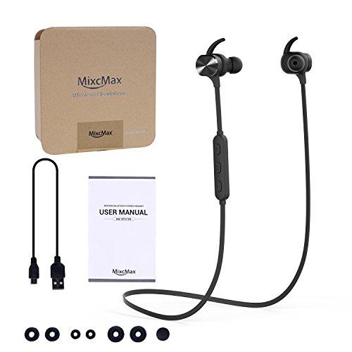 Bluetooth Kopfhörer, MixcMax IPX5 Wasserdichte In Ear Wireless Ohrhörer mit Magnetischer Verbindung, Sport Kopfhörer Eingebautem Mic, HiFi Sound, Noise Cancelling für iPhone, iPad, Android, Tablets, Laptop - Bild 3