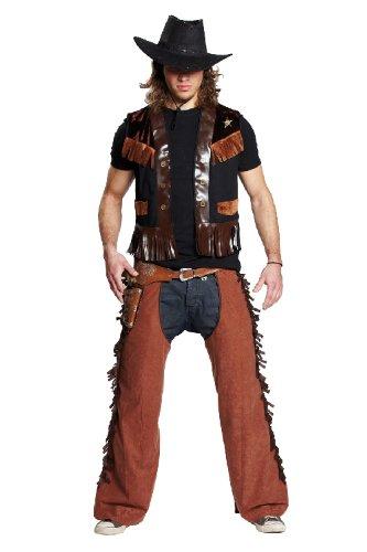 Rubie's Karneval Herren Kostüm Deputy Weste Cowboy Sheriff an Fasching Gr.54 (Sheriff Deputy Kostüm)