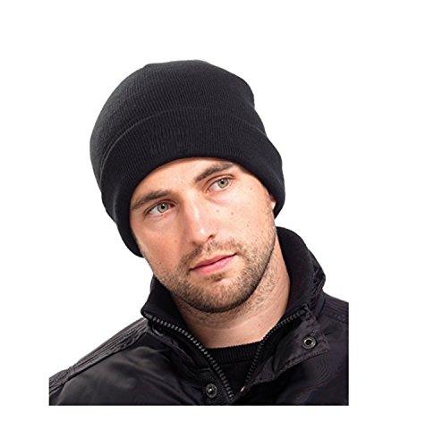 Herren Thinsulate Thermo Winter Mütze Schwarz [Sonstiges]